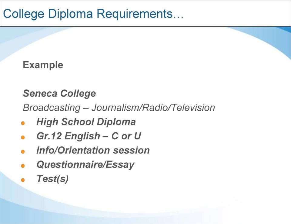 Journalism/Radio/Television High School