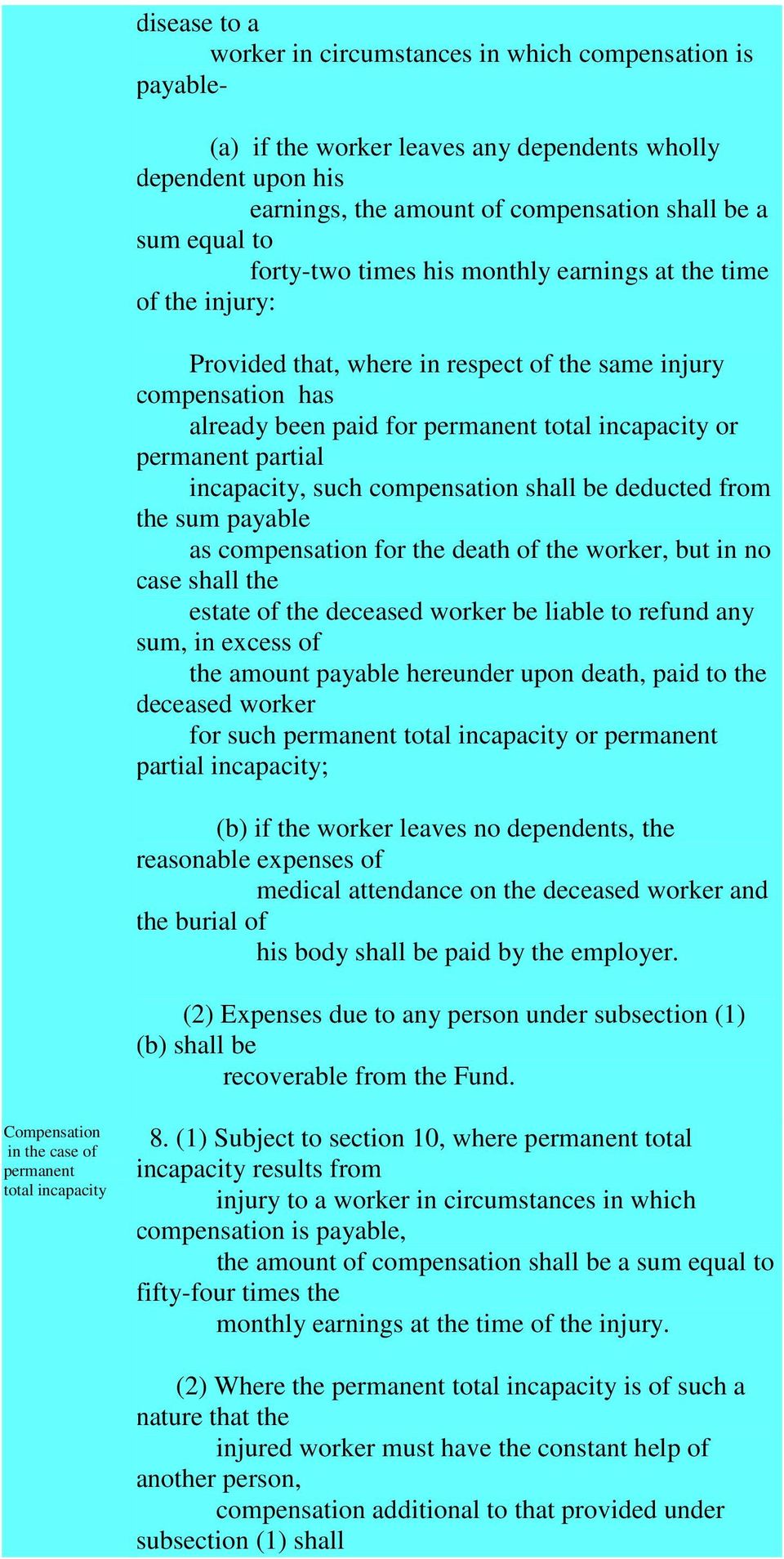 partial incapacity, such compensation shall be deducted from the sum payable as compensation for the death of the worker, but in no case shall the estate of the deceased worker be liable to refund