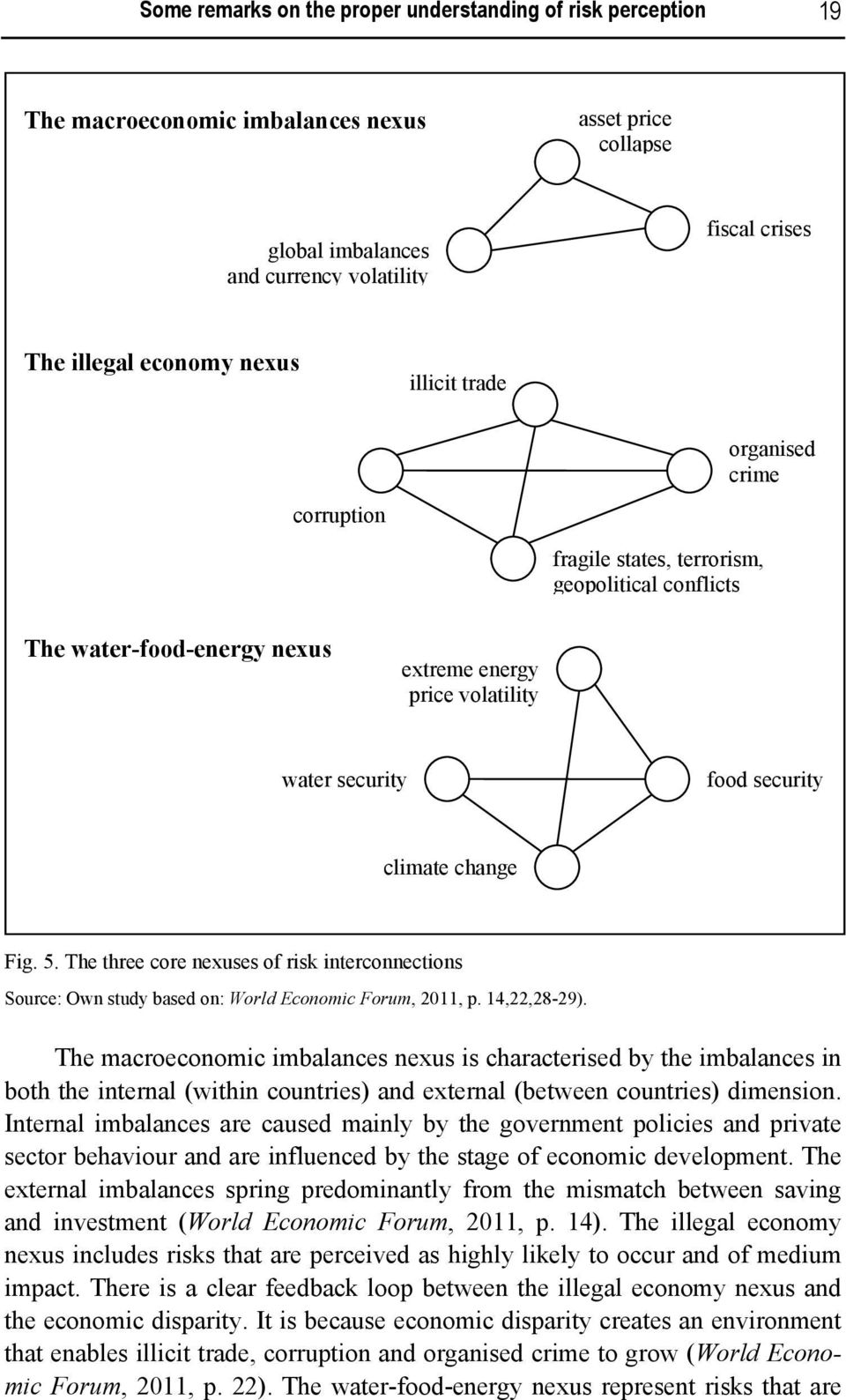 change Fig. 5. The three core nexuses of risk interconnections Source: Own study based on: World Economic Forum, 2011, p. 14,22,28-29).