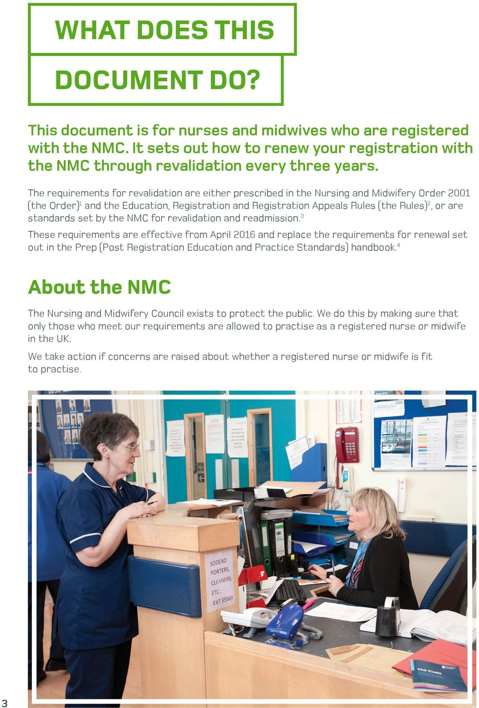 standards set by the NMC for revalidation and readmission.