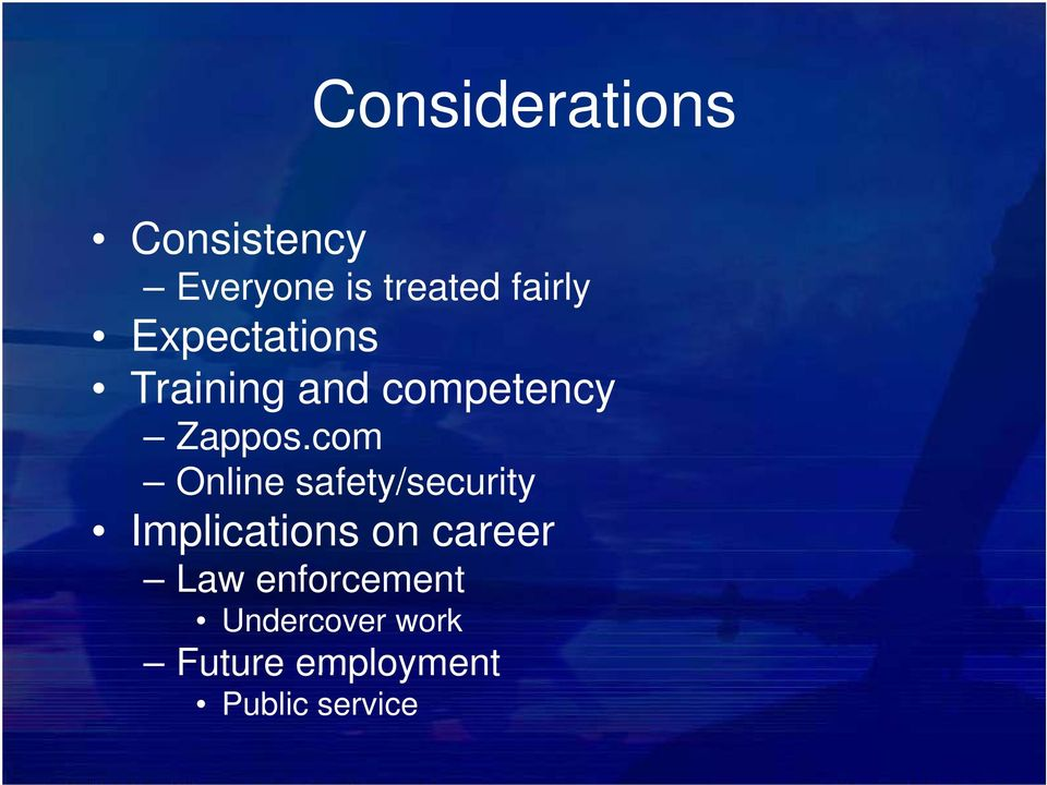 com Online safety/security Implications on career