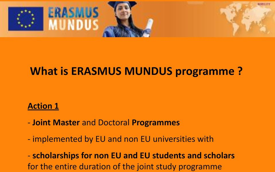 implemented by EU and non EU universities with -