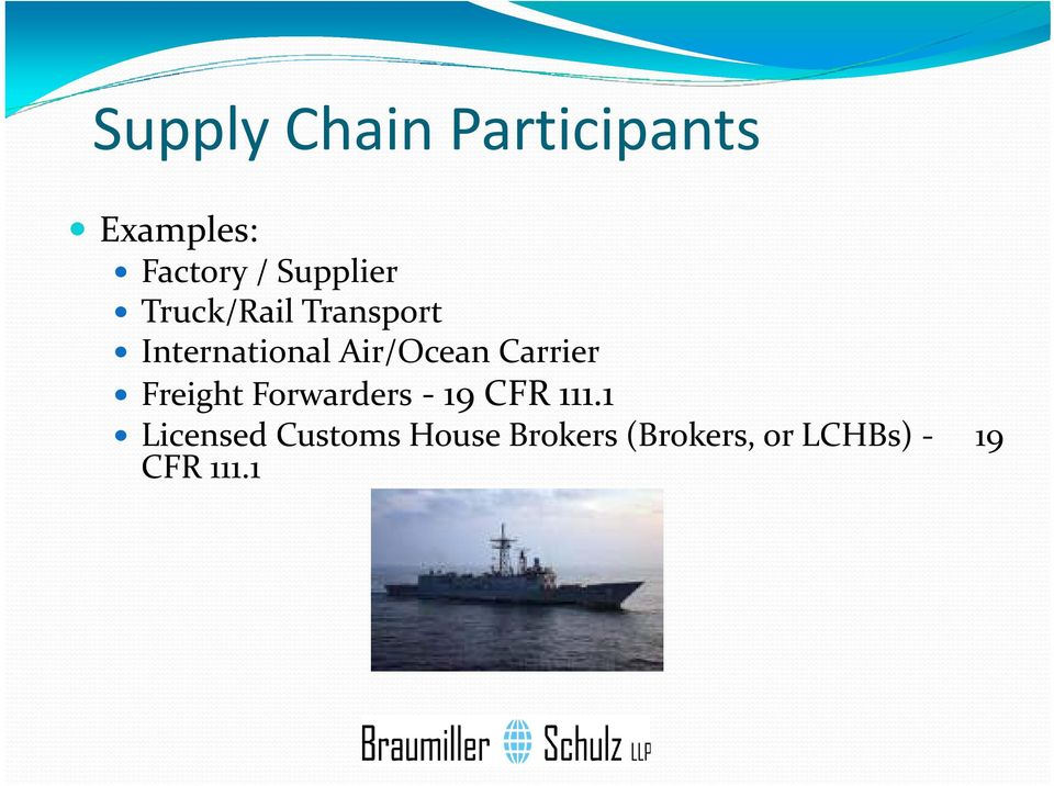Air/Ocean Carrier Freight Forwarders 19 CFR 111.