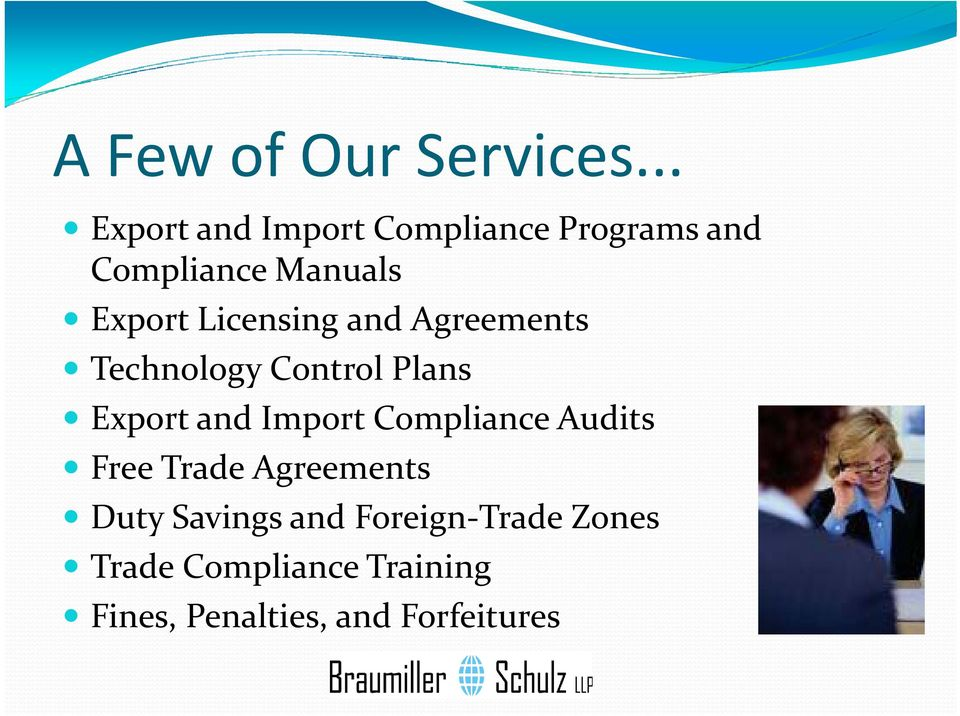 Licensing and Agreements Technology Control Plans Export and Import