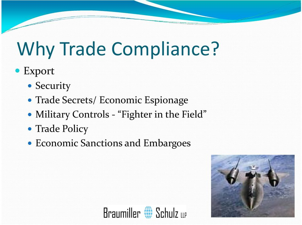 Economic Espionage Military Controls
