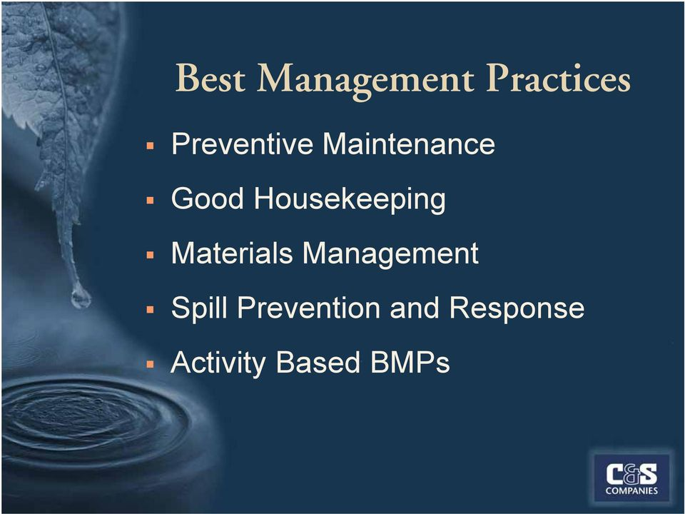 Housekeeping Materials Management