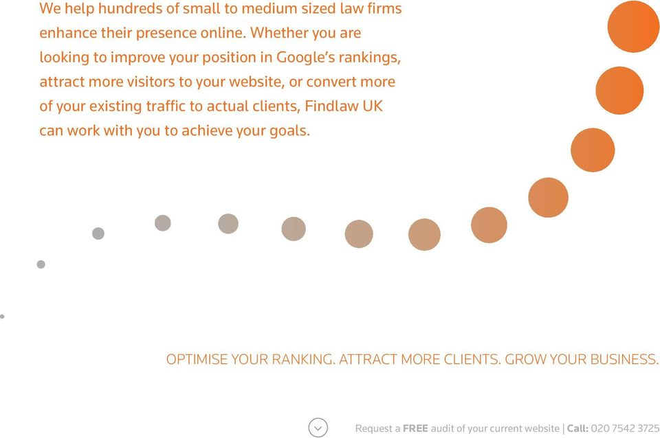 website, or convert more of your existing traffic to actual clients, Findlaw UK can work with you to achieve