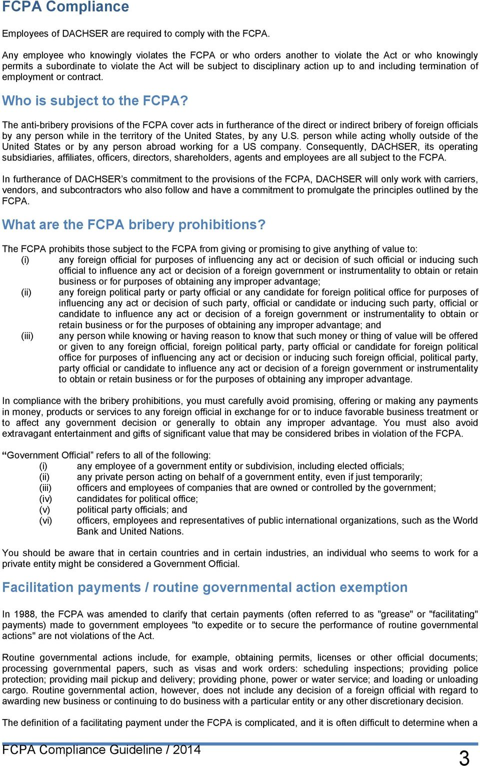 including termination of employment or contract. Who is subject to the FCPA?