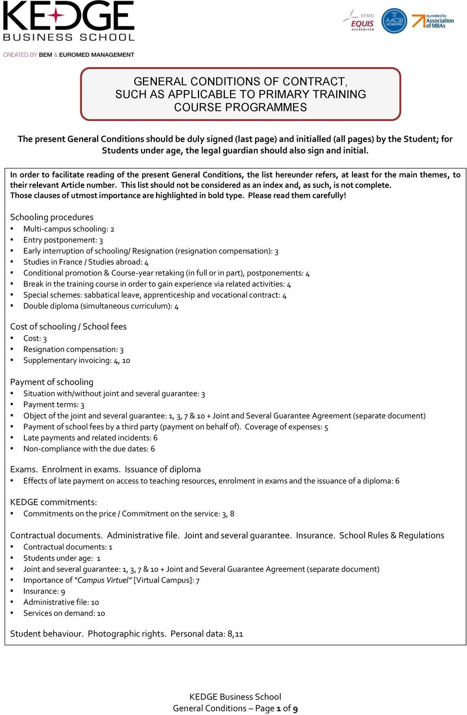 General Conditions Of Contract Such As Applicable To