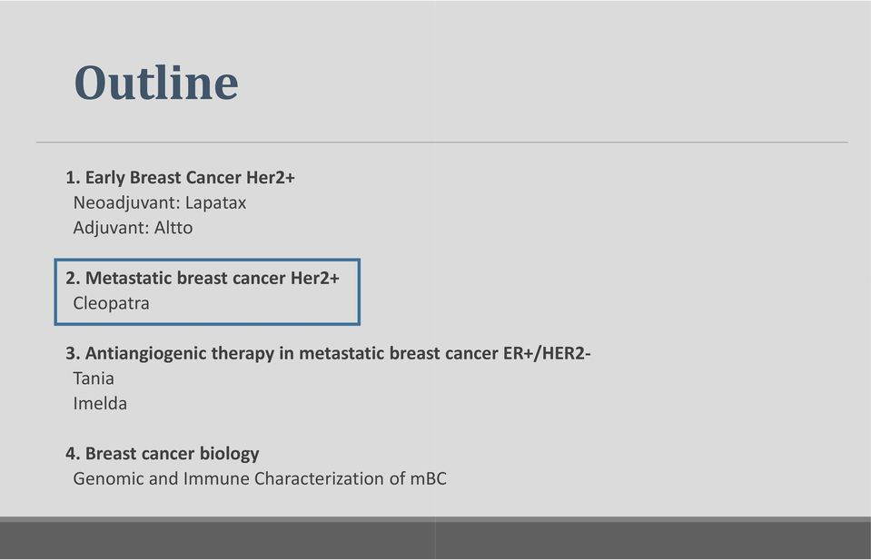 Metastatic breast cancer Her2+ Cleopatra 3.