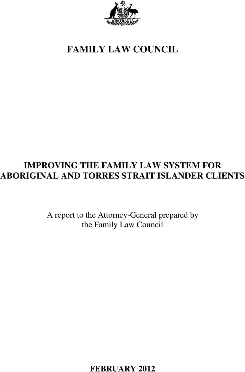 ISLANDER CLIENTS A report to the