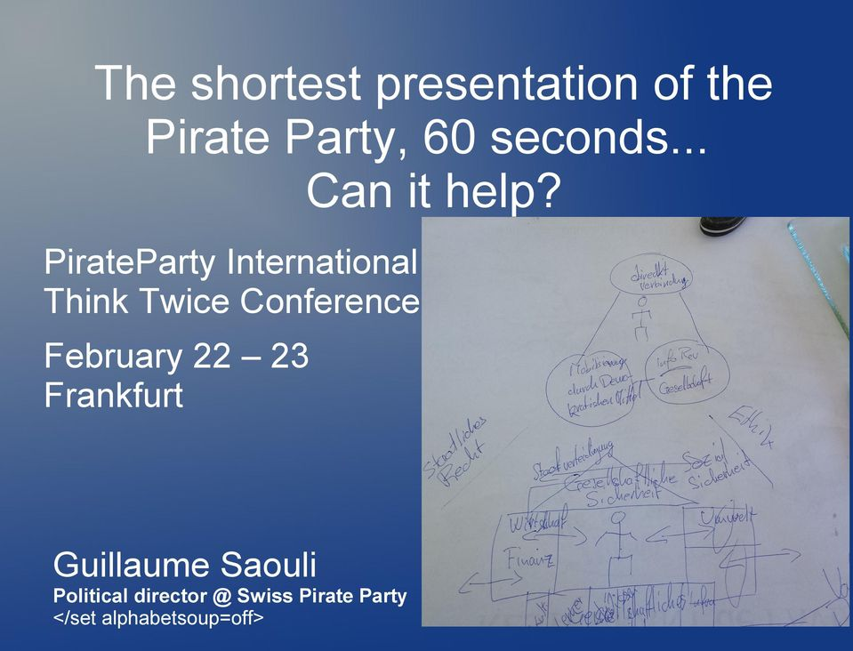 PirateParty International Think Twice Conference