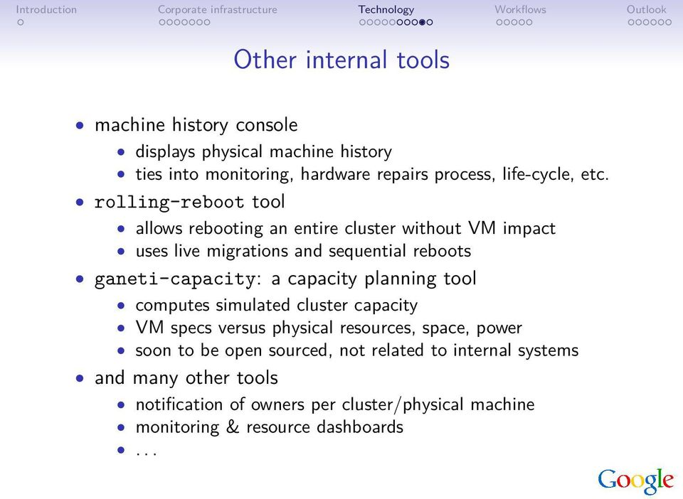 a capacity planning tool computes simulated cluster capacity VM specs versus physical resources, space, power soon to be open sourced, not