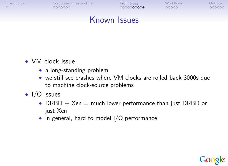 clock-source problems I/O issues DRBD + Xen = much lower