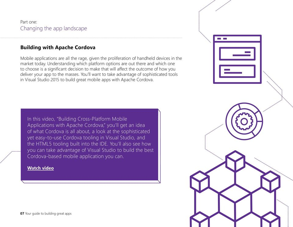 You ll want to take advantage of sophisticated tools in Visual Studio 2015 to build great mobile apps with Apache Cordova.