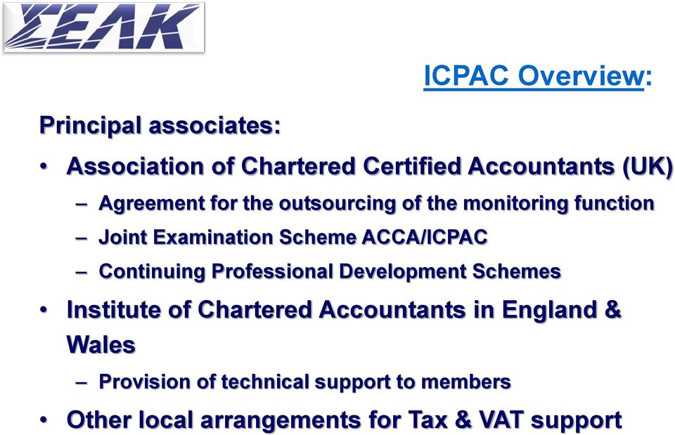 Continuing Professional Development Schemes Institute of Chartered Accountants in England &