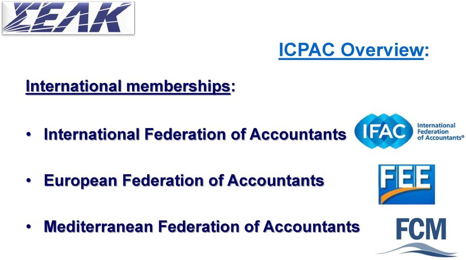 of Accountants European Federation of