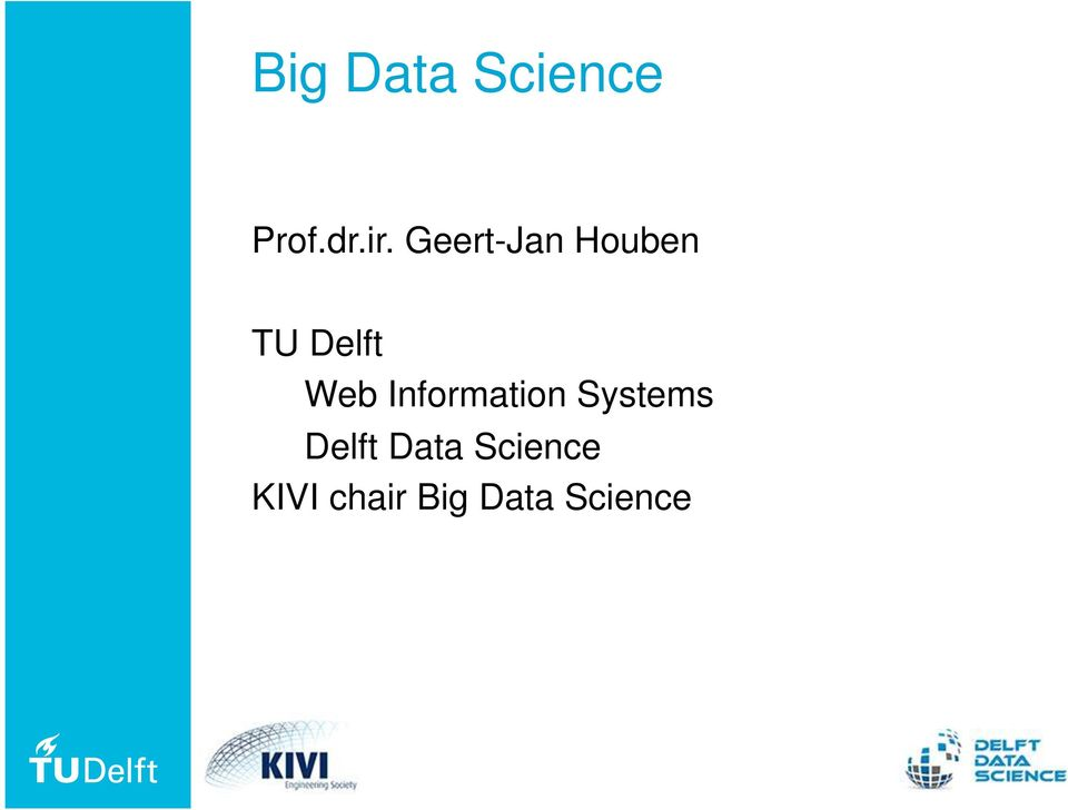 Information Systems Delft Data