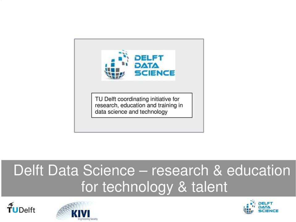 science and technology Delft Data Science