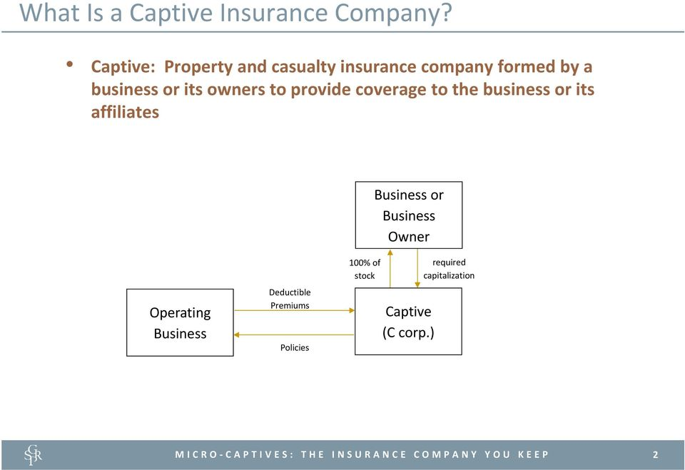 owners to provide coverage to the business or its affiliates Business or