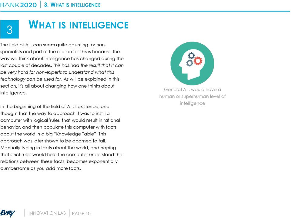 As will be explained in this section, it's all about changing how one thinks about intelligence. In
