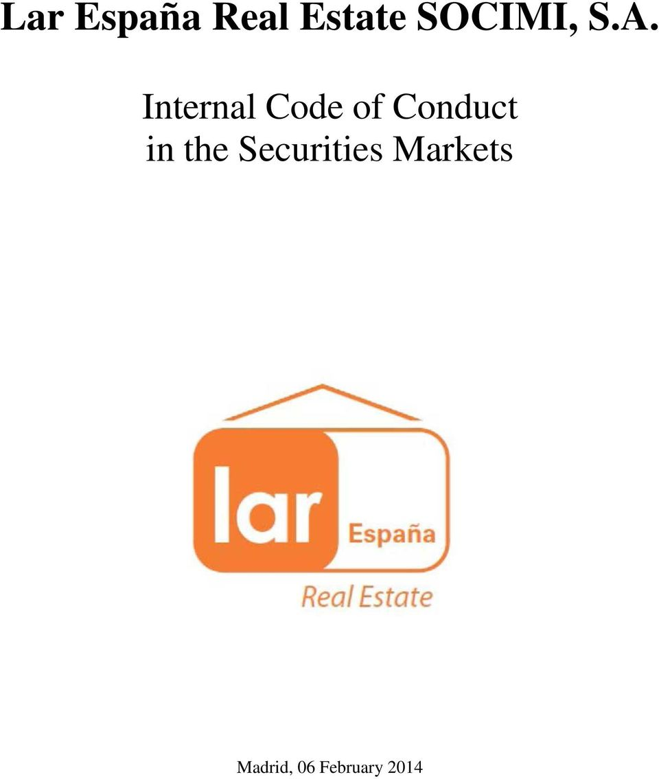 Internal Code of Conduct in