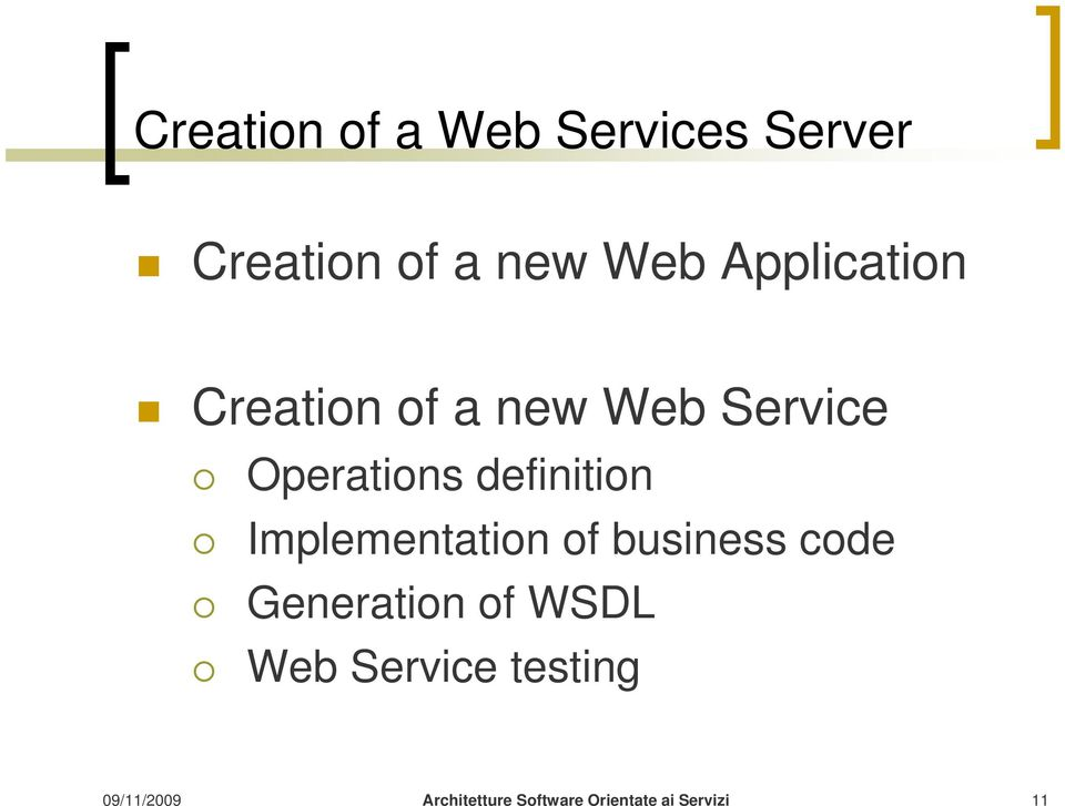 Service Operations definition Implementation of