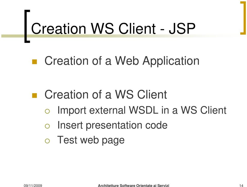 Client Import external WSDL in a WS