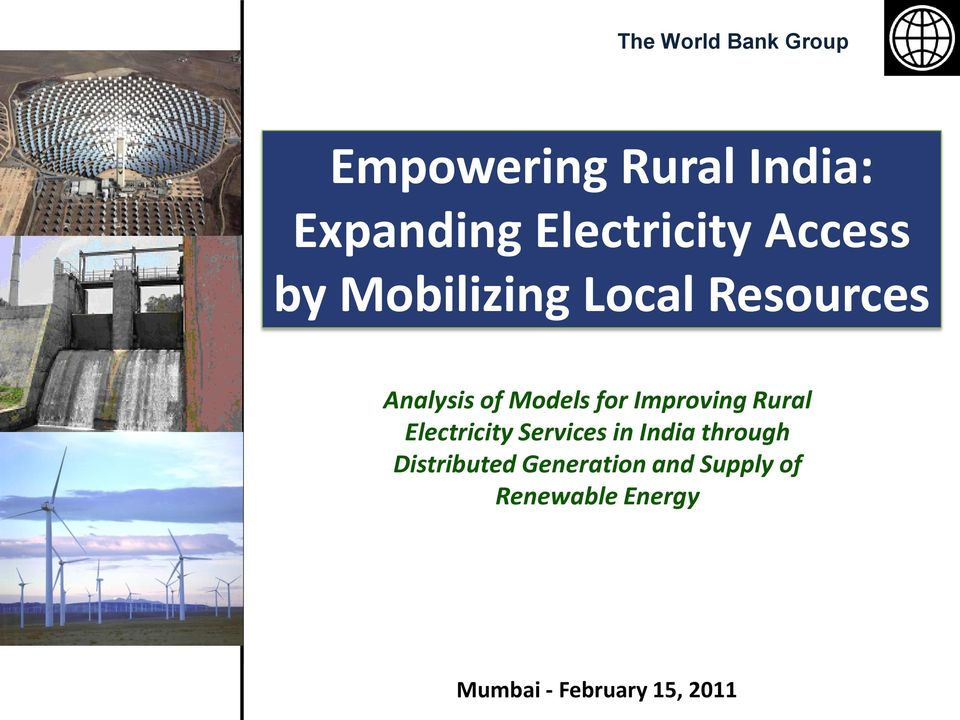 Models for Improving Rural Electricity Services in India through