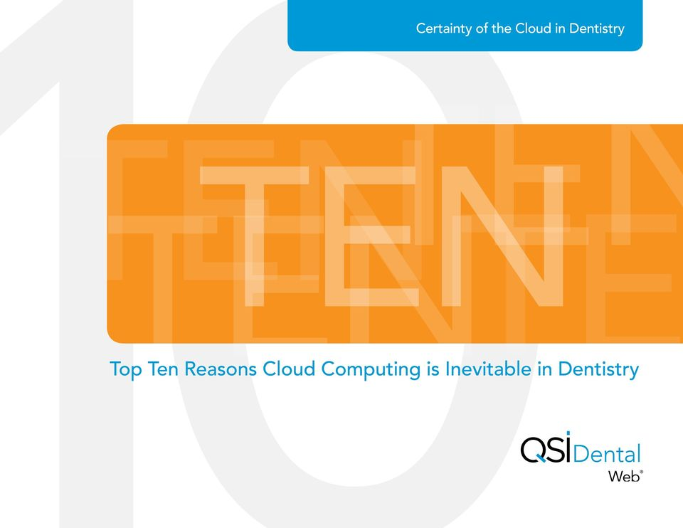 Top Ten Reasons Cloud