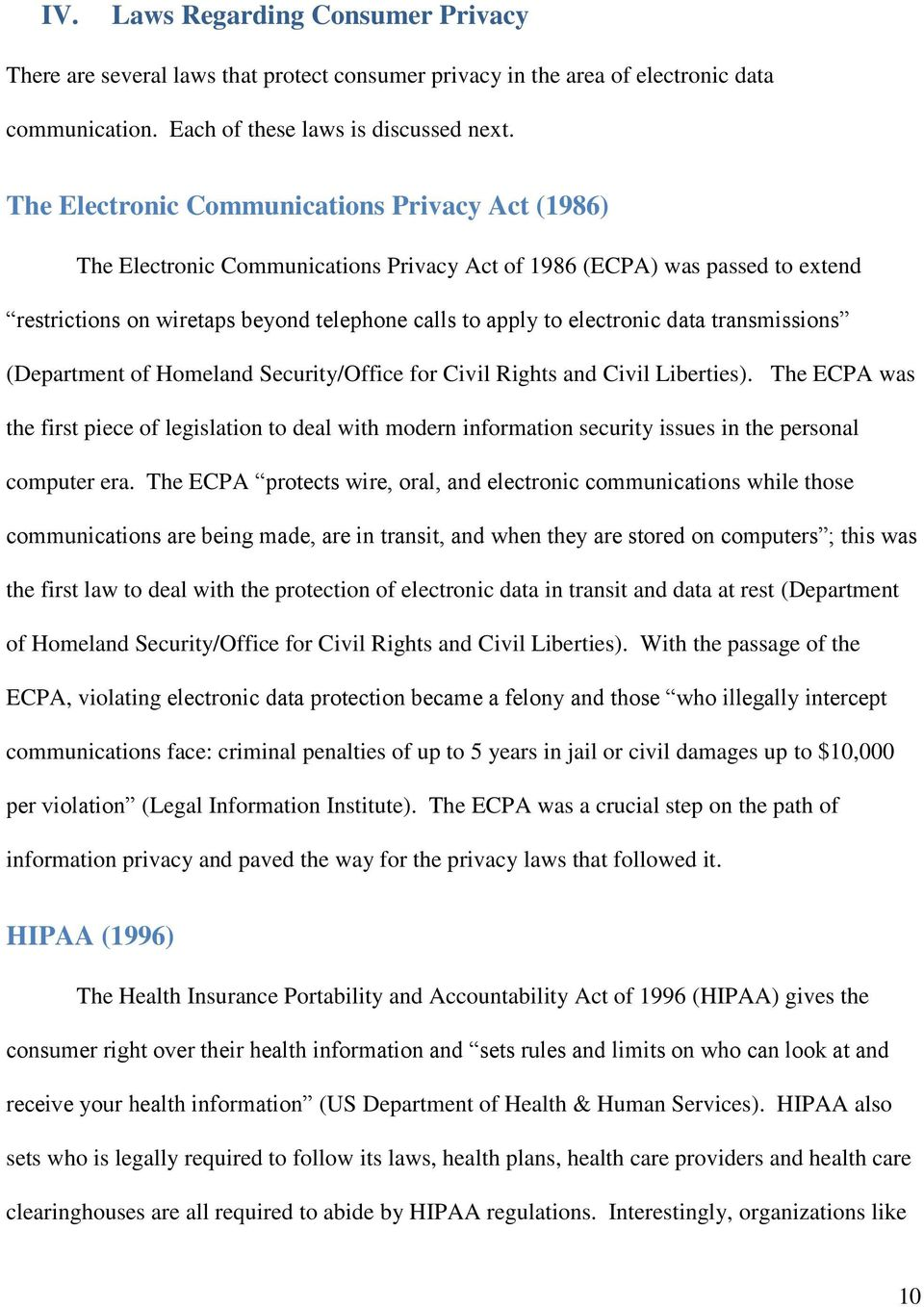 data transmissions (Department of Homeland Security/Office for Civil Rights and Civil Liberties).