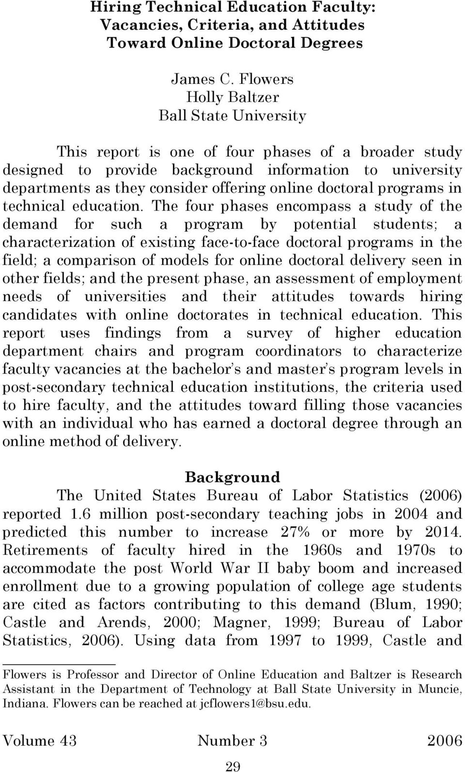 doctoral programs in technical education.