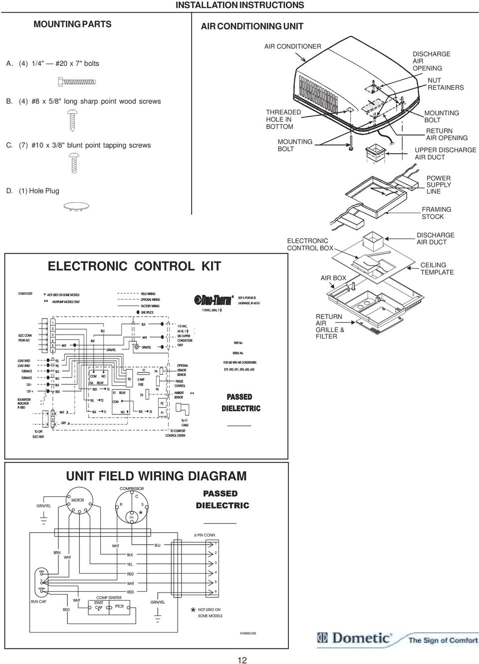 dometic brisk air wiring diagram