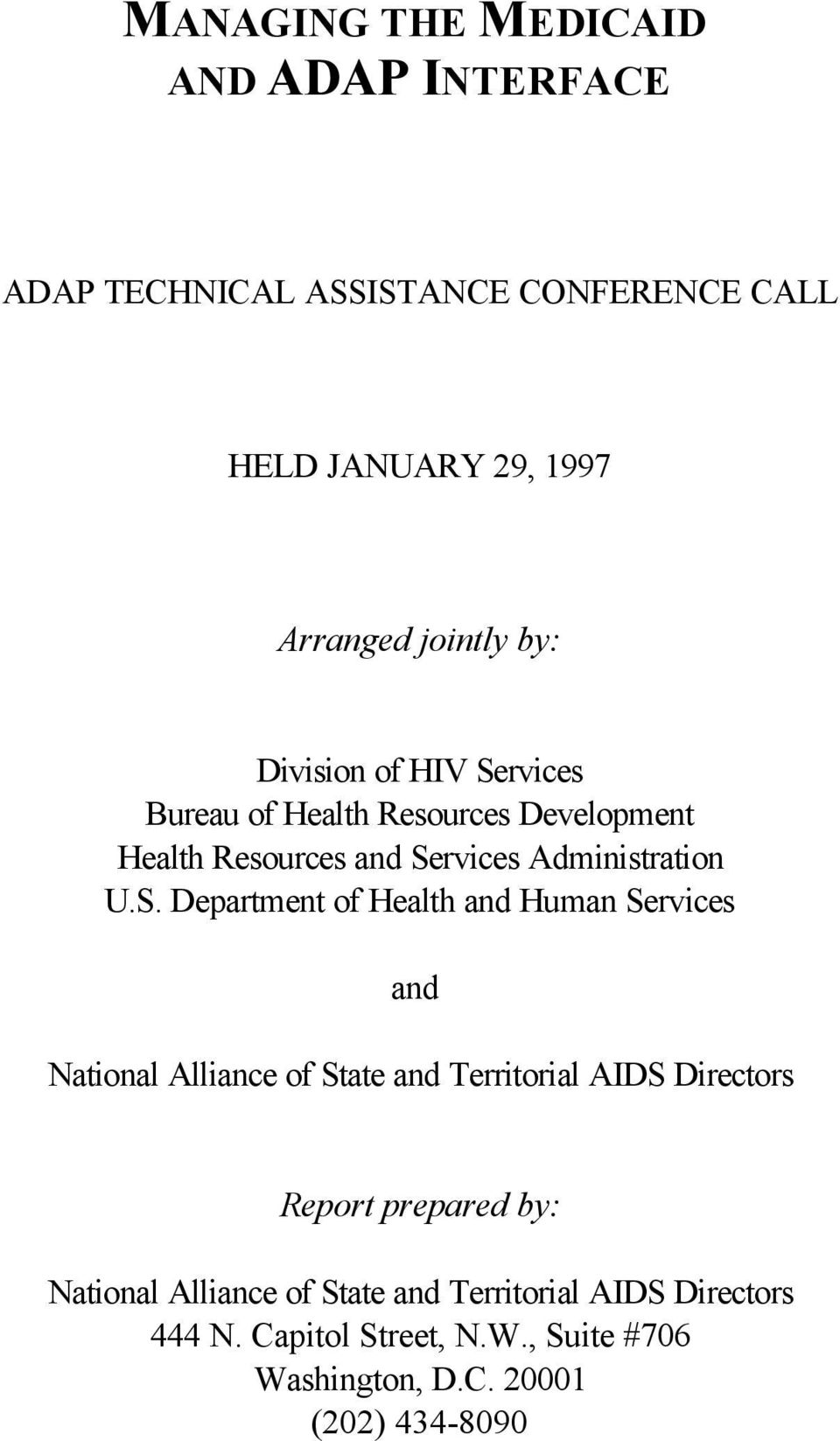 rvices Bureau of Health Resources Development Health Resources and Se