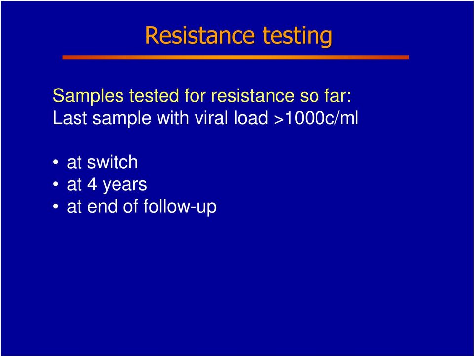 sample with viral load >1000c/ml