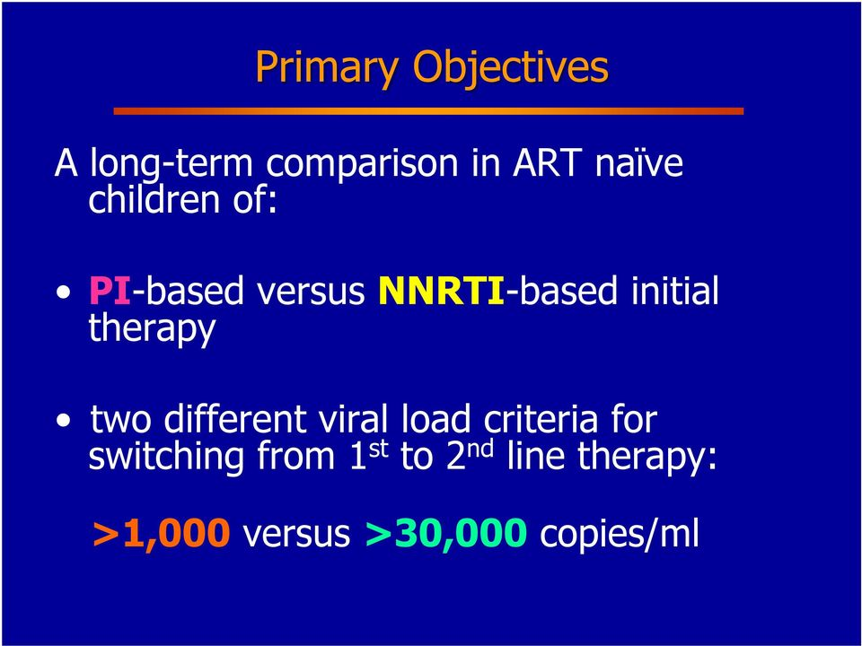 therapy two different viral load criteria for