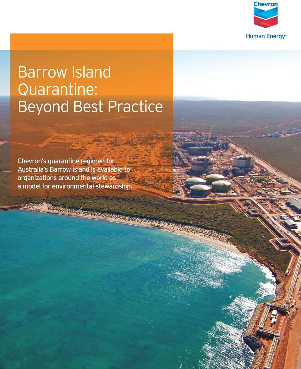 Barrow Island is available to organizations