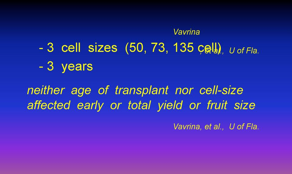 neither age of transplant nor cell-size