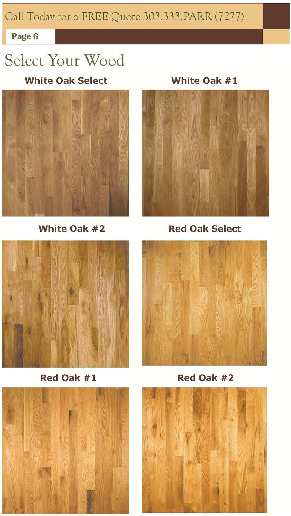 White Oak Select White Oak #1 White