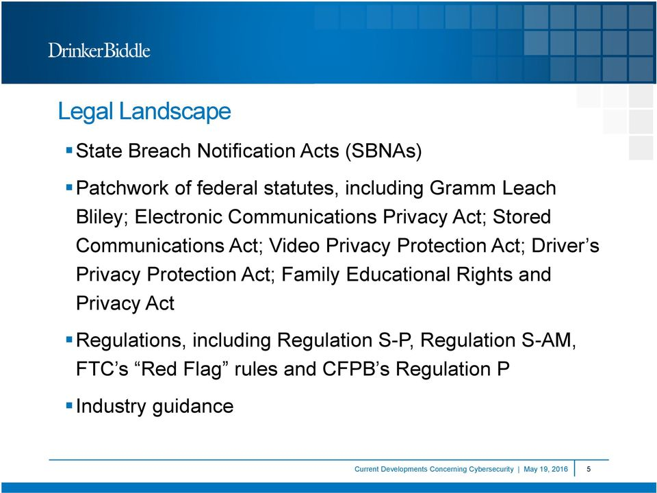 Protection Act; Family Educational Rights and Privacy Act Regulations, including Regulation S-P, Regulation S-AM,