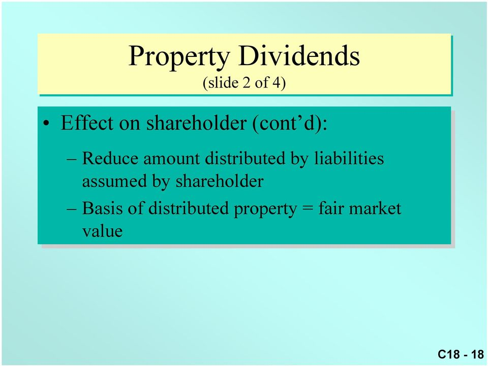 by liabilities assumed by shareholder Basis of
