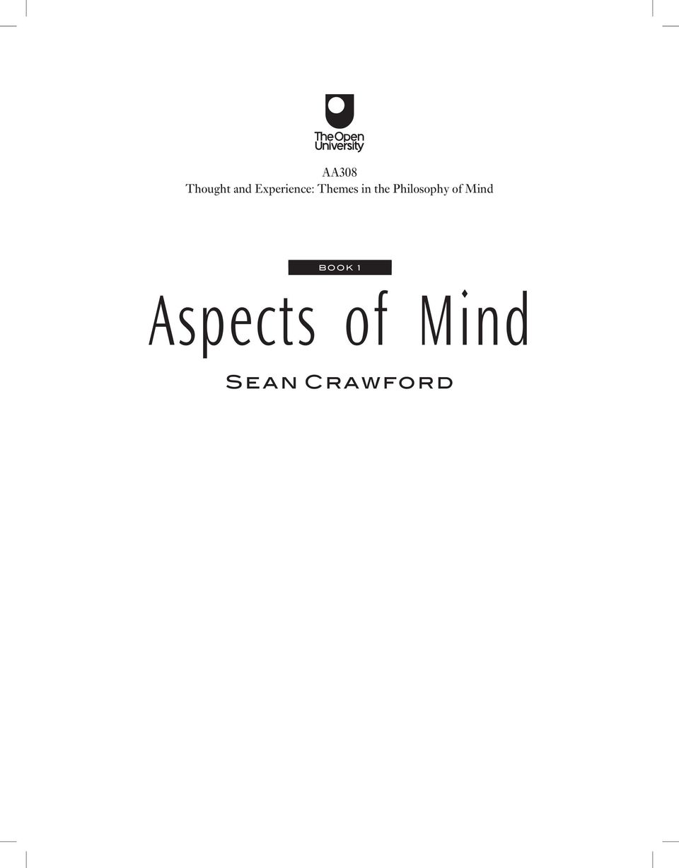 Philosophy of Mind BOOK 1