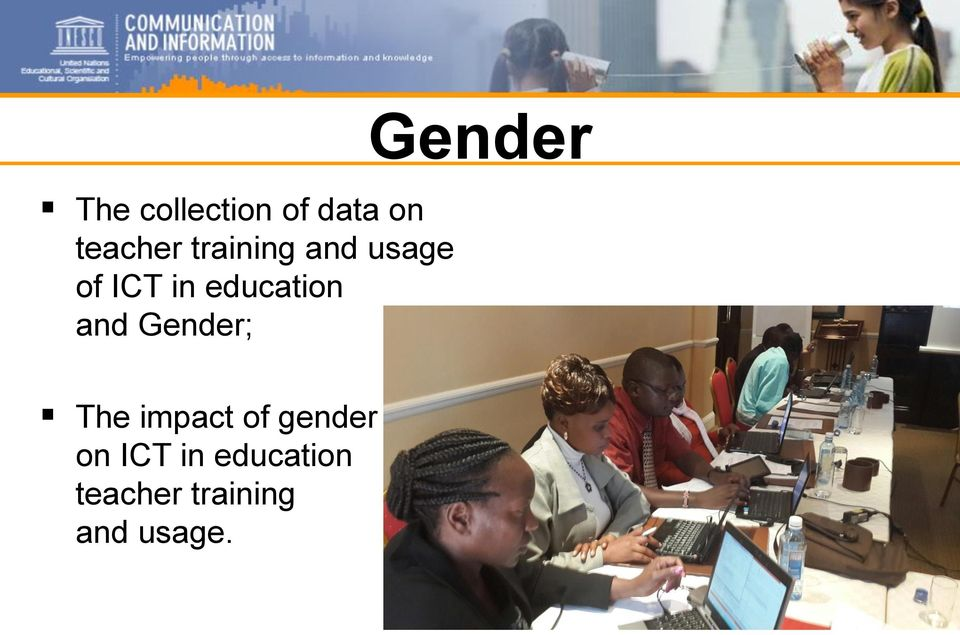 and Gender; Gender The impact of gender