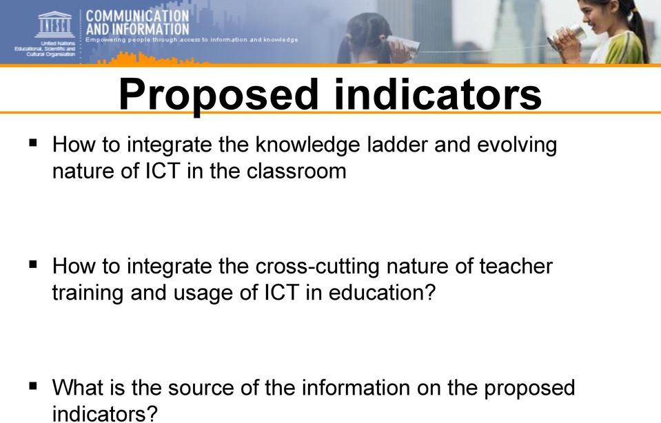 cross-cutting nature of teacher training and usage of ICT in