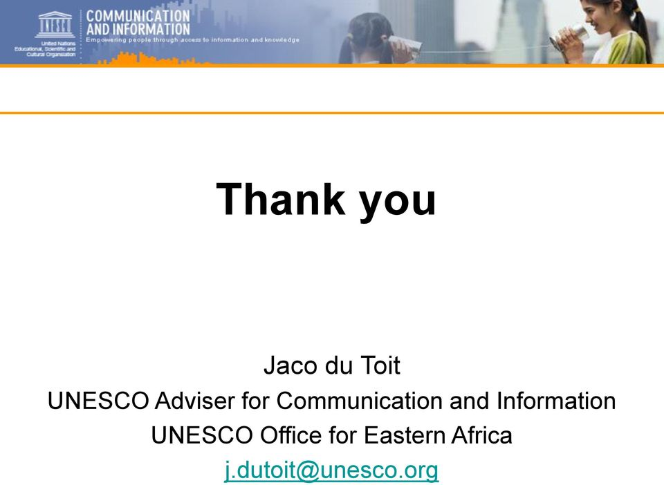 Information UNESCO Office for