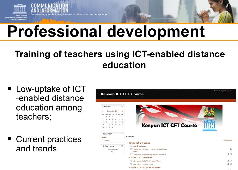 education Low-uptake of ICT -enabled