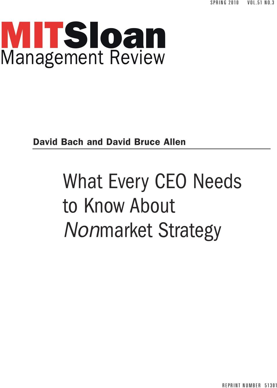 Allen What Every CEO Needs to