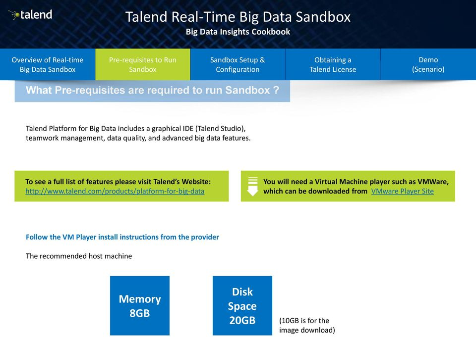 To see a full list of features please visit Talend s Website: http://www.talend.