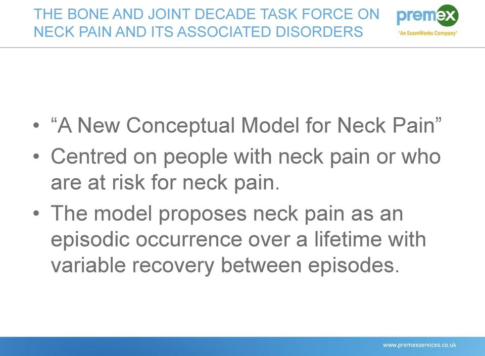 neck pain or who are at risk for neck pain.