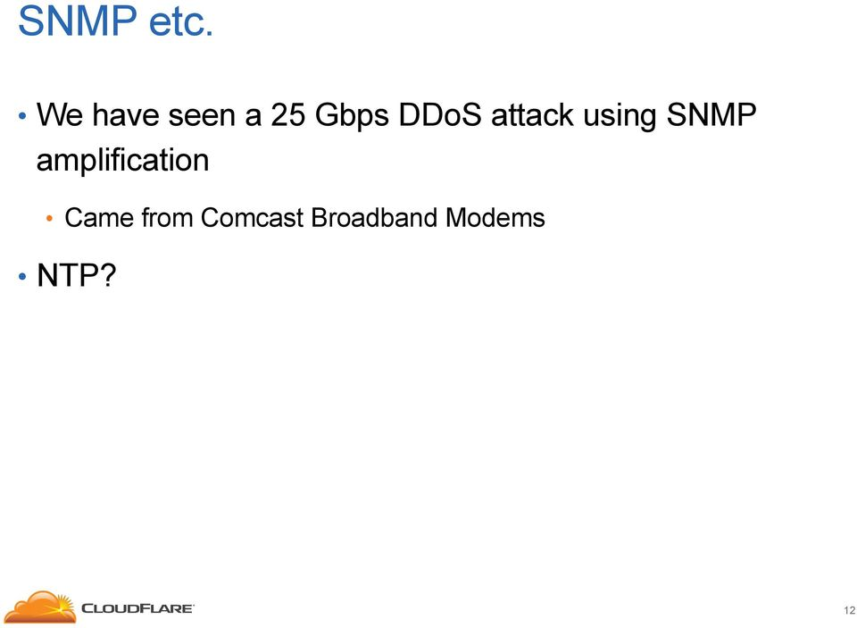 attack using SNMP
